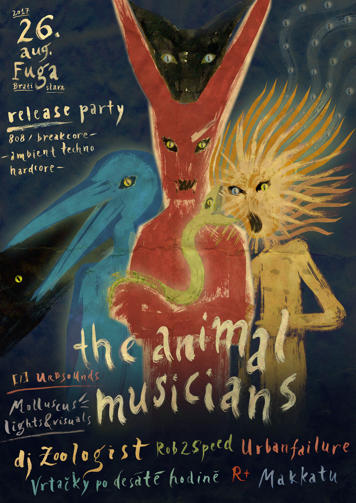 26 August 2017 :: The Animal Musicians release party