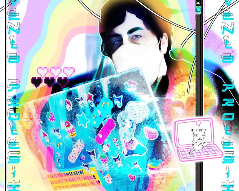 [/] no. 37 | Venta protesix – Sickening digital rainbows